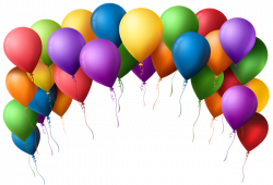 Balloon Arch Transparent PNG Clip Art Image | lalida | Pinterest ...