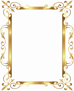 Gold Border Frame Deco Transparent Clip Art Image | patterns ...