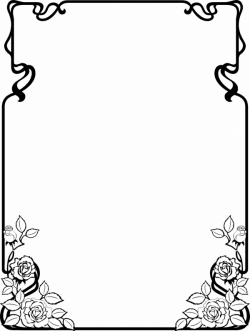 Image - 8550-illustration-of-a-blank-frmae-border-with-flowers-pv ...
