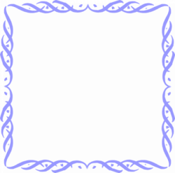Transparent Frames and Borders   ... Of A Blank Blue Frame Border ...