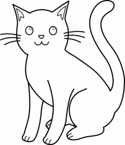 White Cat Clip Art | Kitty Cat Line Art For Coloring | ~I♥Love♥ALL ...