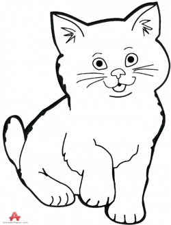 Cat Black And White Drawing at GetDrawings.com | Free for personal ...