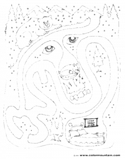 Simple Hibernating Bear Coloring Page Fresh Best Of Cave Clipart ...