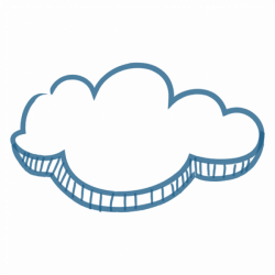 Brush drawing cloud message - Transparent PNG & SVG vector