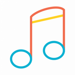 Colorful music note icon - Transparent PNG & SVG vector