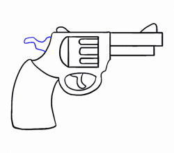 How to Draw a Cartoon Revolver in a Few Easy Steps   Easy Drawing Guides