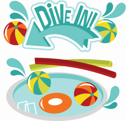 Dive In! SVG Scrapbook Collection swimming pool svg file swimming ...