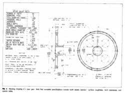 Production drawing spur gear, Picture #2505594 production drawing