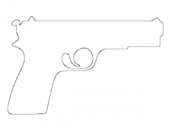 Pistol pattern. Use the printable outline for crafts, creating ...