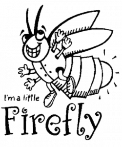 Firefly Clipart Coloring Page Picture 41300 Firefly