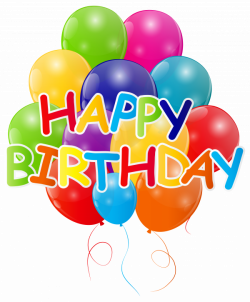 Happy Birthday with Bunch of Balloons PNG Clip Art Image | Gallery ...