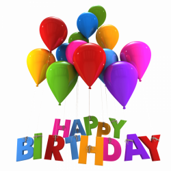 Happy Birthday Balloons Hanging Letters transparent PNG - StickPNG