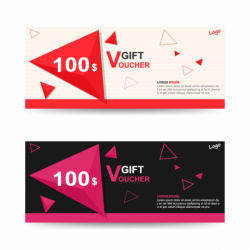 Colorful Gift voucher template with colorful pattern,cute gift ...