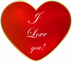 I Love You Heart Clip Art PNG Image | Gallery Yopriceville - High ...