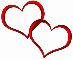 Transparent Red Hearts PNG Clipart