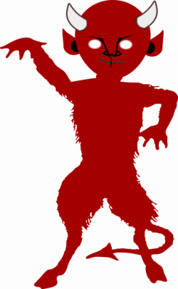 Lucifer Devil Demon Satan Silhouette free commercial clipart ...