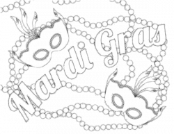 Mardi gras beads clipart coloring page, Picture #120309 ...