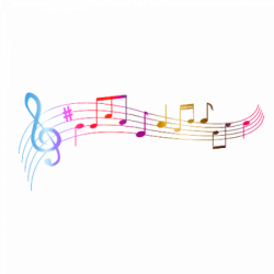 Colourful Music Notes transparent PNG - StickPNG