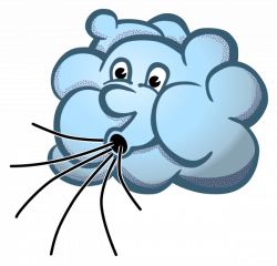 Clipart - wind - coloured
