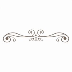 Curly ornament line decoration - Transparent PNG & SVG vector