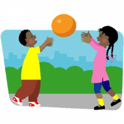 Playing Outside Clipart