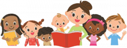 Image result for kids reading with parents clipart | clipart ...