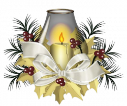 Vintage Christmas Candles.Poinsettias Clipart Vintage Christmas Candle Picture