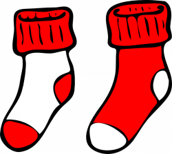 Red And White Socks Clip Art at Clker.com - vector clip art online ...