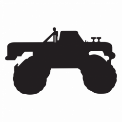 Monster truck silhouette - Transparent PNG & SVG vector