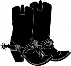 Black Western Boots Clipart